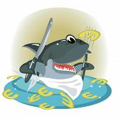 picture of loan-shark  - Shark in the sea of the euro - JPG