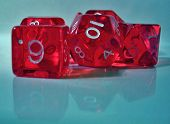 stock photo of dd  - a close up photo of a set of red dice - JPG