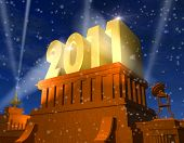 picture of new years celebration  - Cinema like New Year 2011 celebration concept - JPG