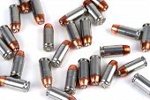 picture of hollow point  - several hollow point bullets on a white background - JPG