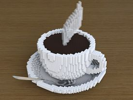 picture of pixel  - A cup of Pixel coffee - JPG