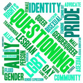 foto of intersex  - Questioning word cloud on a white background - JPG