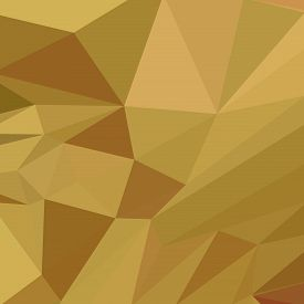 foto of goldenrod  - Low polygon style illustration of goldenrod yellow abstract geometric background - JPG