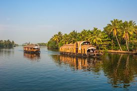 foto of alleppey  - Highly detailed image of Backwaters of Kerala India - JPG