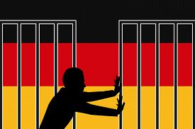 stock photo of safe haven  - Concept sign for the refugee and asylum policy in Germany - JPG