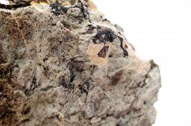stock photo of ore lead  - uranophane mineral element sample uranium cousin radioactive - JPG