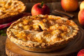 image of crust  - Fresh Homemade Apple Pie with a Flakey Crust - JPG