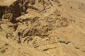foto of israel people  - Judean mountains in Israel desert aerial view of Israel desert landscape - JPG