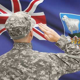 pic of falklands  - National military forces with flag on background conceptual series  - JPG