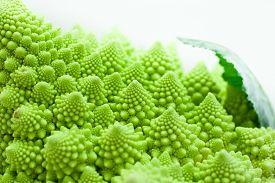 picture of romanesco  - Fresh green cabbage romanesco - JPG
