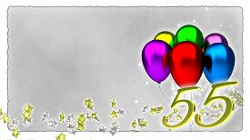 stock photo of fifties  - birthday concept with colorful baloons  - JPG