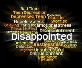 picture of disappointed  - Disappointed Word Indicating Cast Down And Disappointing - JPG