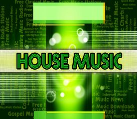 stock photo of house representatives  - House Music Representing Melody Tune And Acoustic - JPG