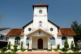 picture of alleppey  - India Christ Church in Alappuzha Kerala - JPG