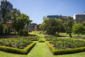 Flower Beds In Landscaped Gardens At Government House In Perth City poster