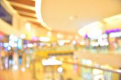 Abstract Blur Shopping Mall And Department Store Interior For Background poster