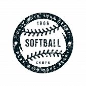 Emblem Of Softball Championship poster