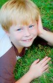 Cute Boy With Blue Eyes poster