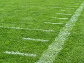 picture of football field  - yard markers on an American football field - JPG