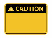 Blank Caution Sign. Yellow Background. Background With Space For Text Writing. Vector Illustration poster