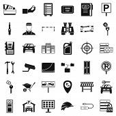 Padlock Icons Set. Simple Style Of 36 Padlock Icons For Web Isolated On White Background poster