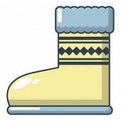 Ugg Boots Icon. Cartoon Illustration Of Ugg Boots Icon For Web poster