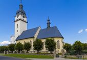 Ancient Church Of St. Anthony The Hermit In Historical Center Of Old Town Spisska Bela. Slovakia. Eu poster