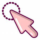 Cursor Clean Icon. Cartoon Illustration Of Cursor Clean Icon For Web poster