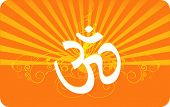 pic of shakti  - Illustration of Om in decorated yellow with beam backgrounds - JPG