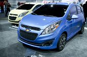 CHICAGO - FEB 12: The 2013 Chevrolet Spark  on display at the 2012 Chicago Auto Show. February 12, 2