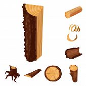 Vector Illustration Of Signboard  And Wood Sign. Collection Of Signboard  And Wooden Vector Icon For poster