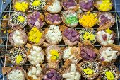 Thai Coconut Pudding (kanom Krok). Dessert Of Thai Traditional Sweetmeat Or Thai Pancake. Thai Desse poster