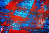 Abstract Red And Blue Hand Painted Acrylic Background, Creative Abstract Hand Painted Colorful Artwo poster