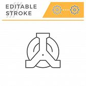 Wheel Clamp Editable Stroke Line Icon Isolated On White. Vector Illustration poster
