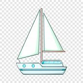 Sailing Ship Icon. Cartoon Illustration Of Sailing Ship Vector Icon For Web poster