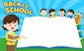 Back To School Kids,education Concept Template With Kids Can Be Used For Web Banner, Backdrop, Ad, P poster