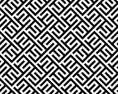 Abstract Geometric Pattern With Stripes, Lines. Seamless Vector Background. White And Black Ornament poster