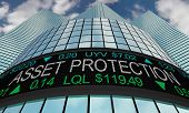Asset Protection Stock Market Wall Street Secure Your Wealth 3d Illustration poster