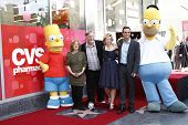 LOS ANGELES, CA - FEB 14: Bart Simpson; Nancy Cartwright; Matt Groening; Yeardley Smith; Hank Azaria