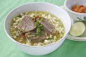 stock photo of khas  - Indonesian meat soup has a characteristic that is authentic - JPG