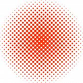 Ball Made Of Red Tiny Circles Bigger In Center Getting Smaller On Periphery It Fades. Different Size poster