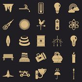 Glare Icons Set. Simple Set Of 25 Glare Vector Icons For Web For Any Design poster
