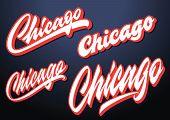Chicago City Vector Lettering Logo Sign Element poster
