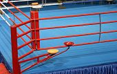 image of boxing ring  - boxing fight ring detail from sports arena - JPG