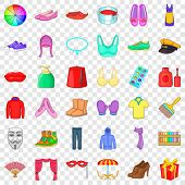 Decor Icons Set. Cartoon Style Of 36 Decor Vector Icons For Web For Any Design poster