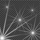 White Beautiful Light Explodes With A Transparent Explosion. Vector, Bright Illustration For Perfect poster