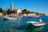 Franciscian Monastery In Hvar Town In Croatia. Hvar Town Is The Famous Town For Summer Beach Vacatio poster