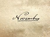 pic of annal  - a photo of a 100 years old handwritten november - JPG
