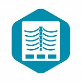 X Ray Photo Icon. Simple Illustration Of X Ray Photo Vector Icon For Web poster