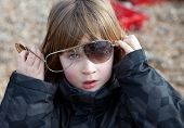 Child Sunglasses Broken Playing
